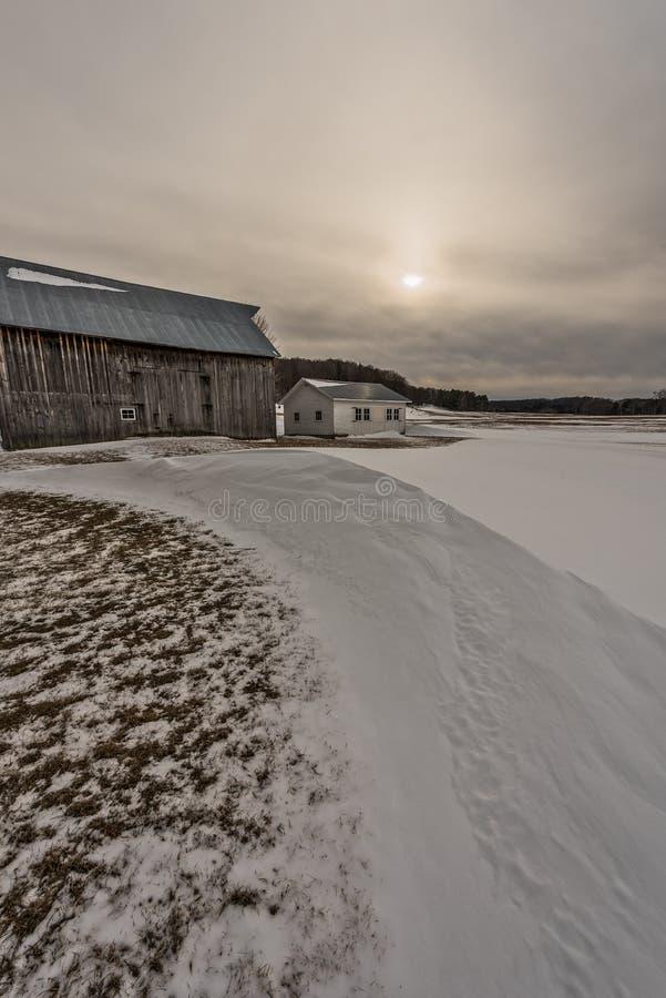 完善的雪漂泊 库存图片