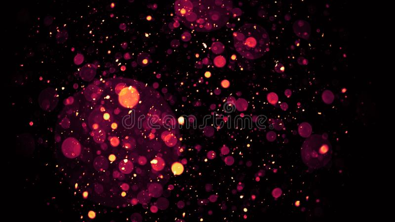 完善的bokeh覆盖物在背景圣诞快乐和新年快乐 免版税图库摄影