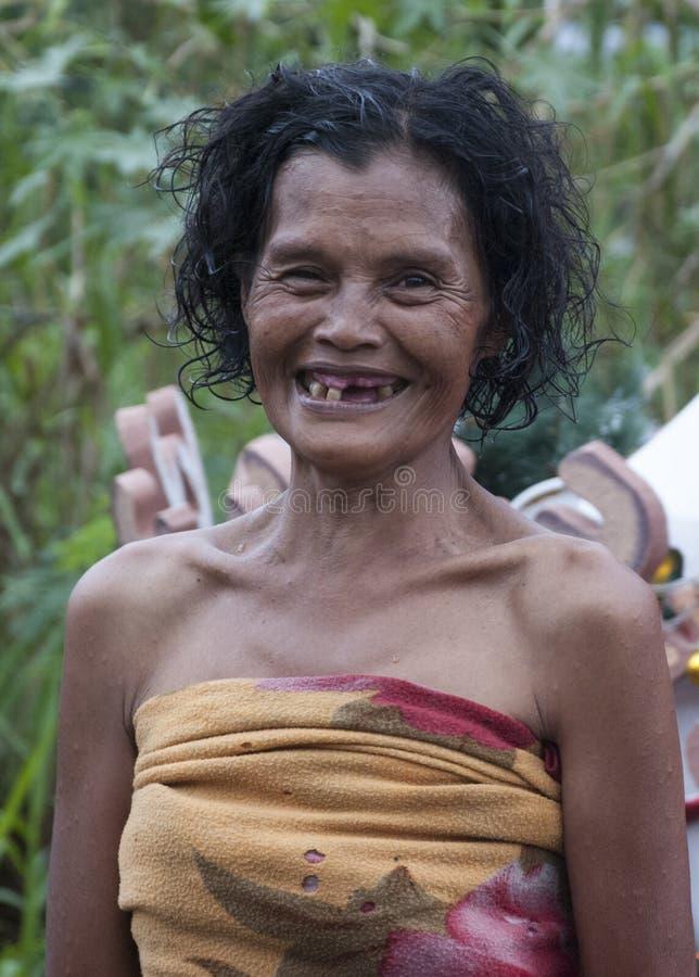完善色的微笑 图库摄影