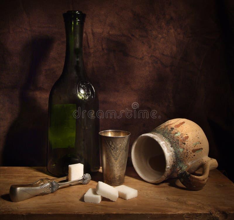 完成的酒 图库摄影
