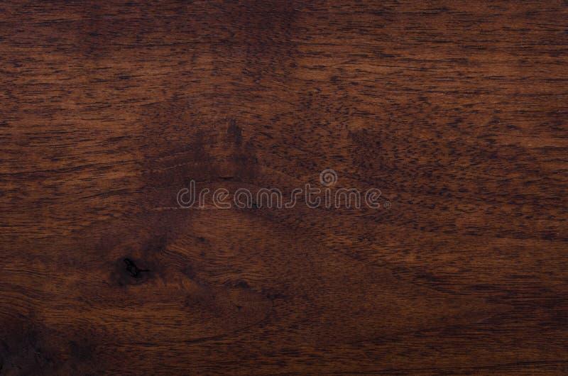 完成的黑核桃木 库存照片