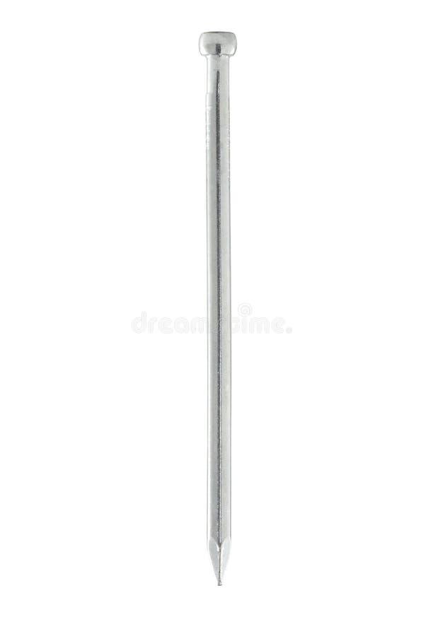 完成的isoalted钉子白色 库存图片
