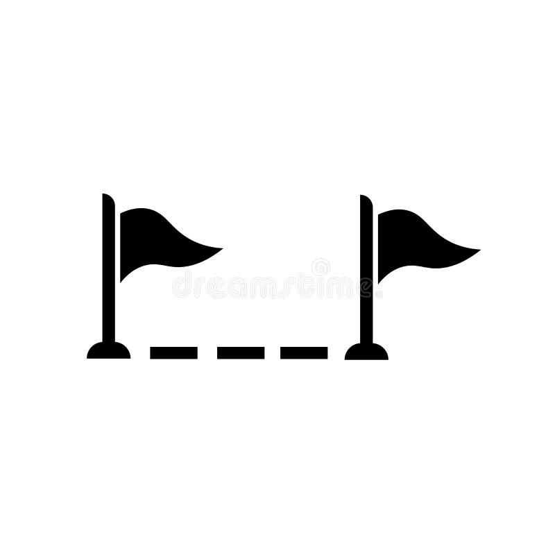 完成象传染媒介标志和标志的步隔绝在白色背景,步完成商标概念 皇族释放例证