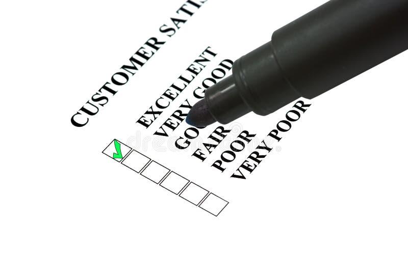 完成curstomer表单满意度 向量例证