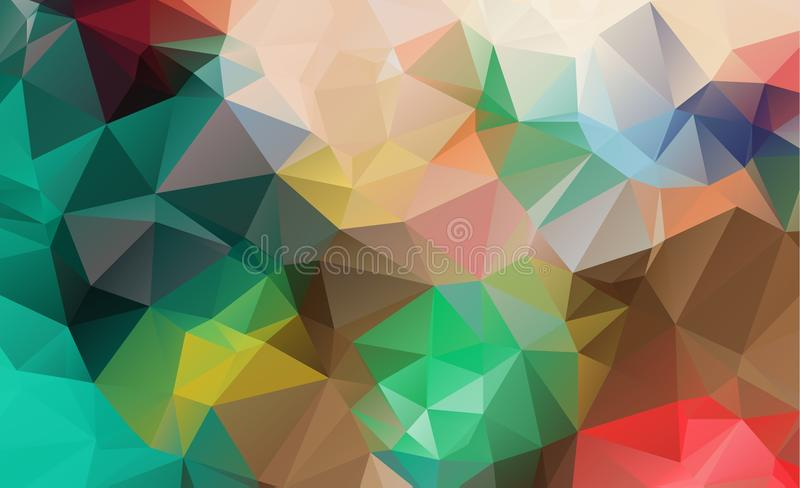 完整色彩抽象几何的背景 向量例证