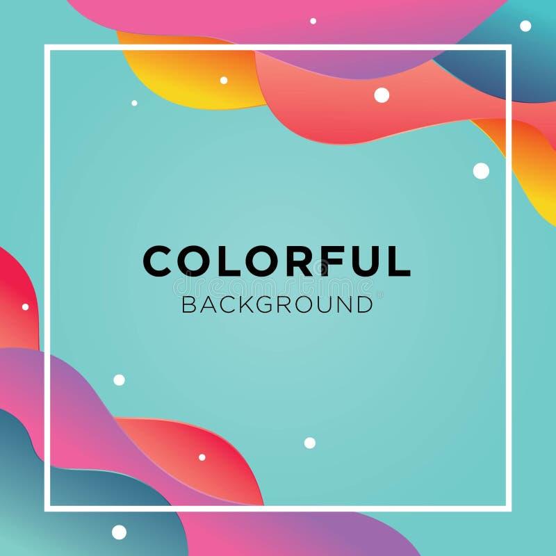 完整色彩的可变的背景 库存例证