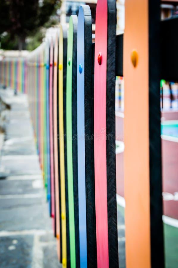 完整色彩的篱芭 免版税库存图片