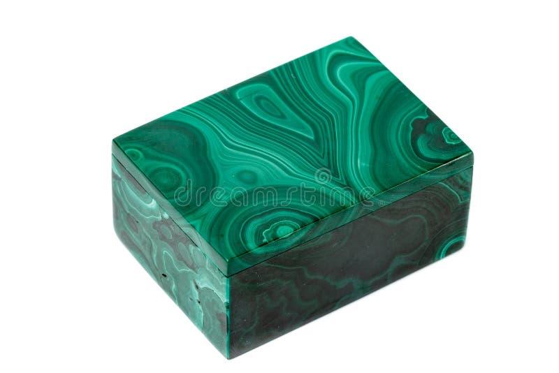 宏指令 在白色背景的绿沸铜箱子 免版税库存图片
