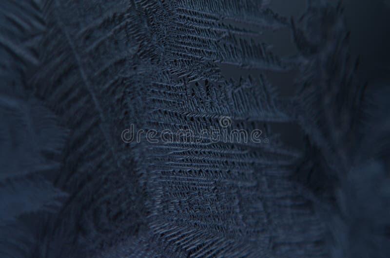 宏指令接近冰微粒构造雪结冰 免版税库存照片