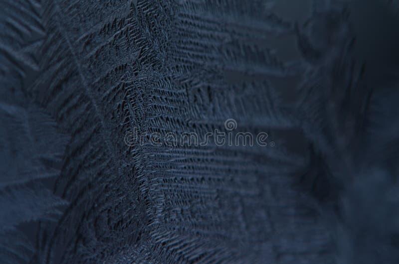 宏指令接近冰微粒构造雪结冰 库存图片