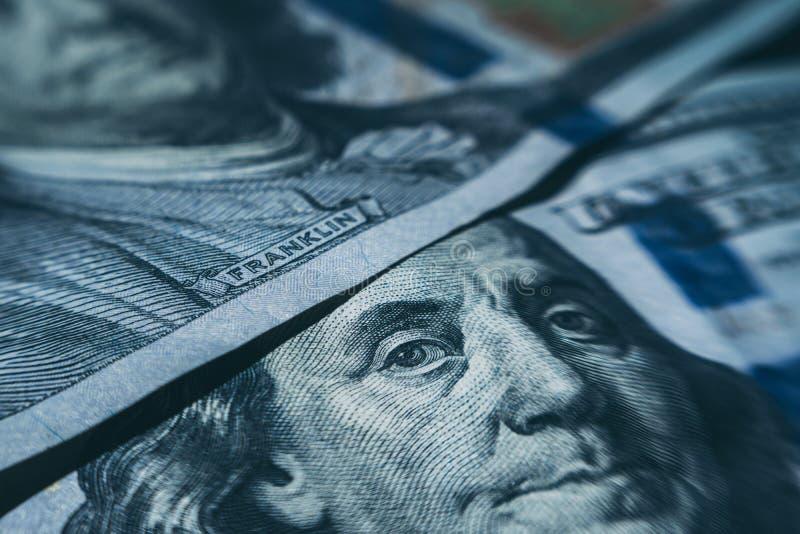 宏观一百元钞票 免版税图库摄影