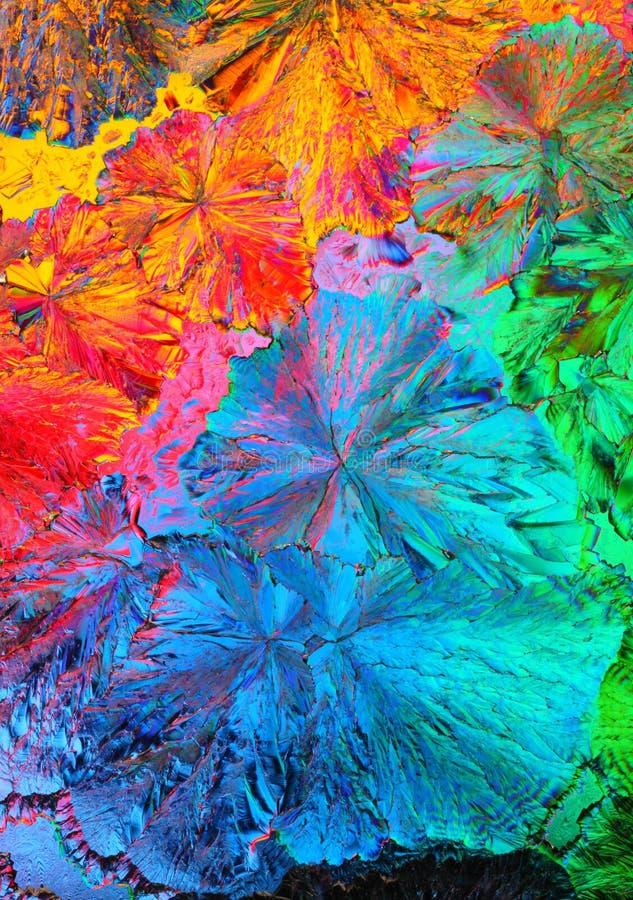 宏观五颜六色的水晶 图库摄影