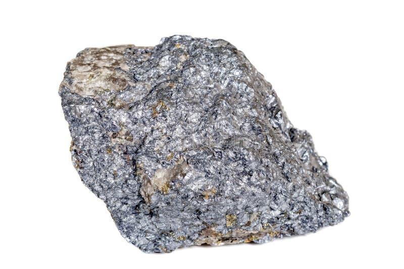 宏观在岩石的硅土矿物石头在白色背景 图库摄影