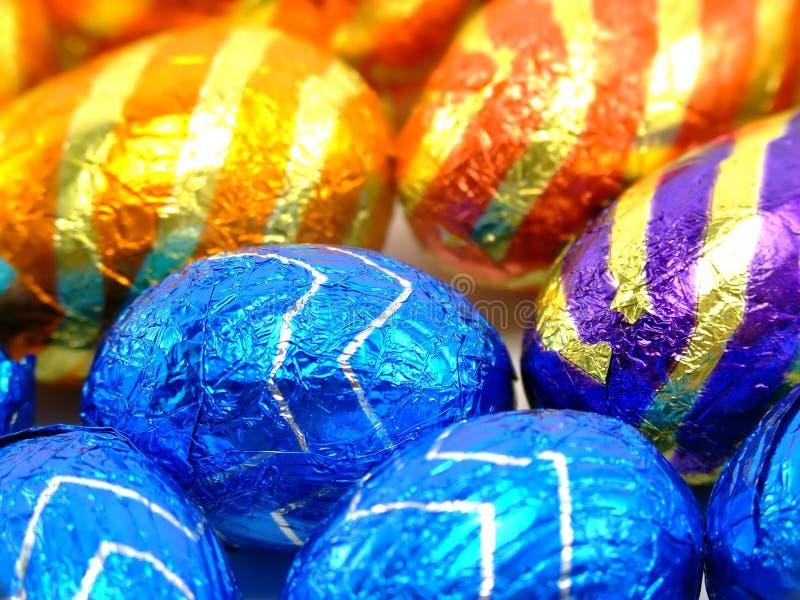 宏观的复活节彩蛋 库存图片