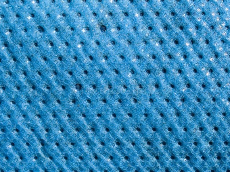 宏观纹理-蓝色篷布 免版税图库摄影