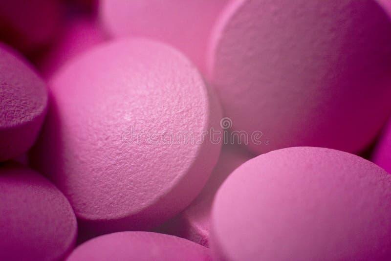 宏观药片 药片和片剂或者药剂 库存照片