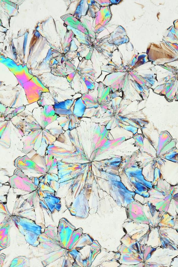 宏观酸柠檬酸的水晶 免版税库存图片