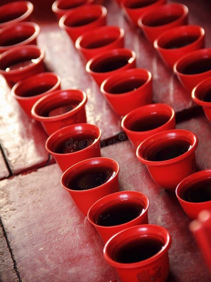 宗教中国事件的茶杯 免版税库存照片