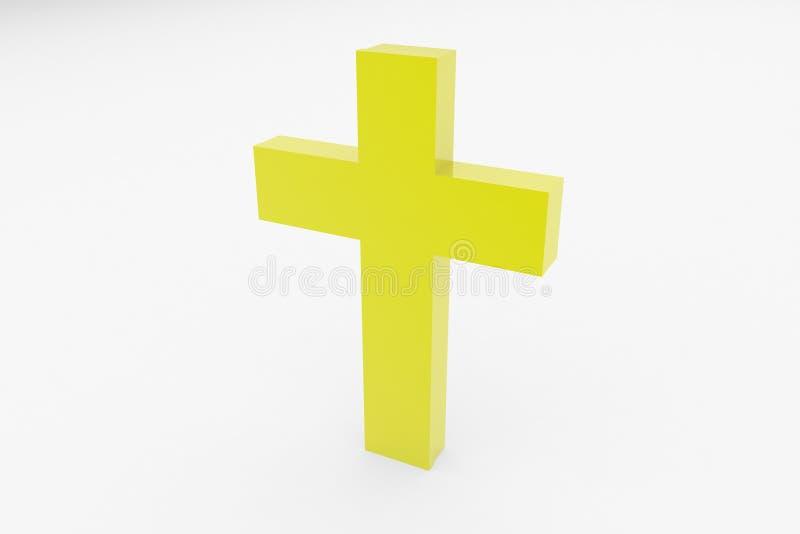 宗教交叉 皇族释放例证