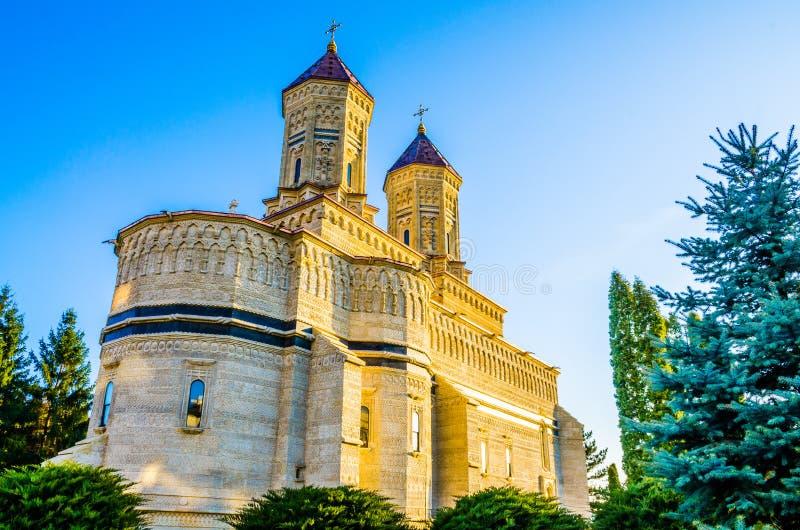 宗教修道院Cetatuia在Iasi,罗马尼亚 免版税图库摄影