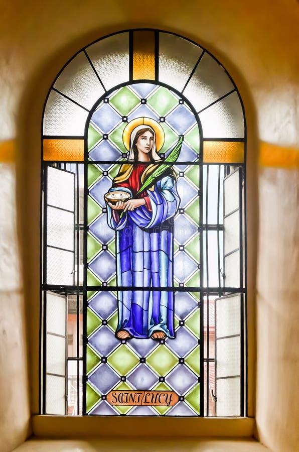 宗教彩色玻璃 免版税库存照片