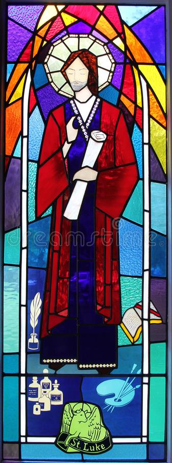 宗教污迹玻璃窗 免版税库存照片