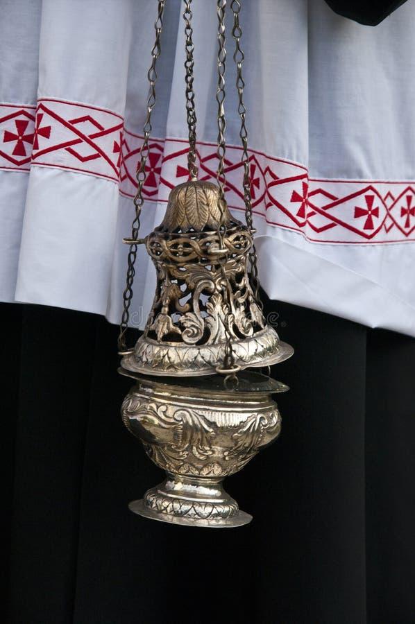 宗教的标志:香火 库存图片
