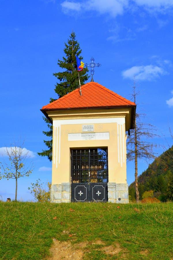 宗教符号 典型的风景在城市布拉索夫,位于在特兰西瓦尼亚,罗马尼亚 免版税库存图片