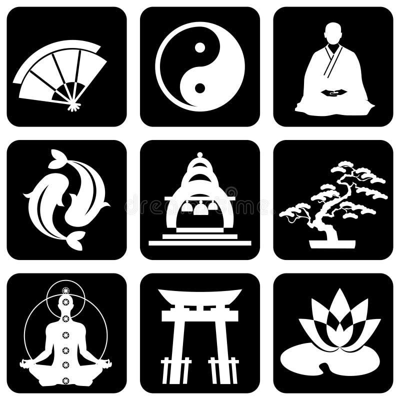 宗教符号 向量例证