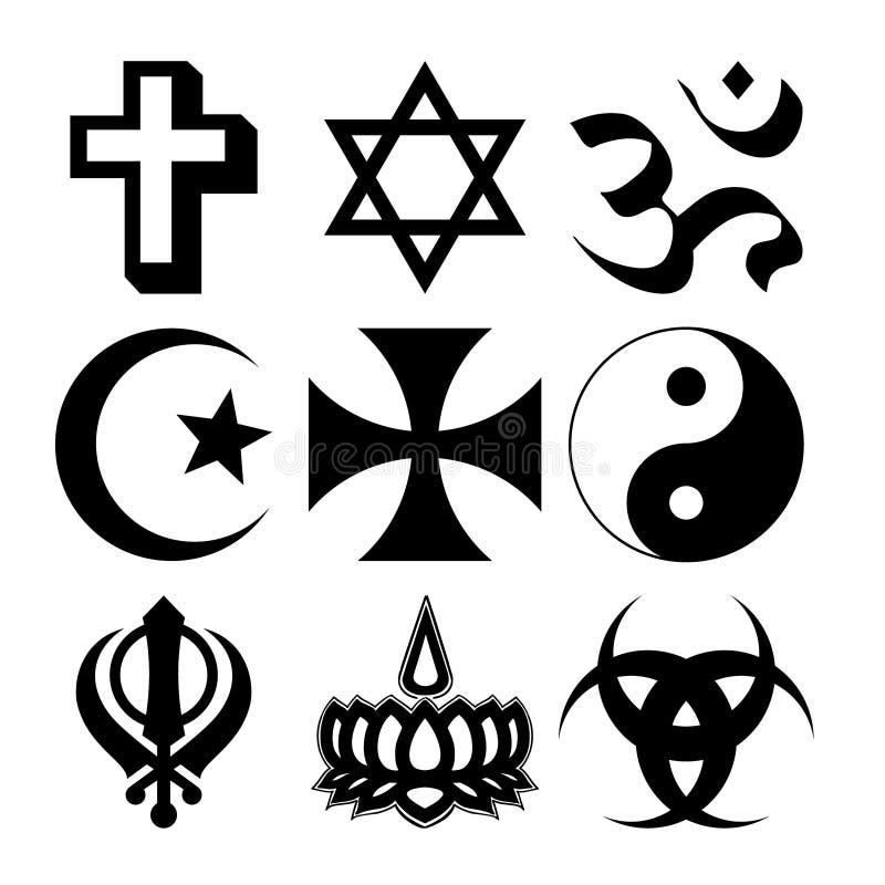 宗教符号 库存例证