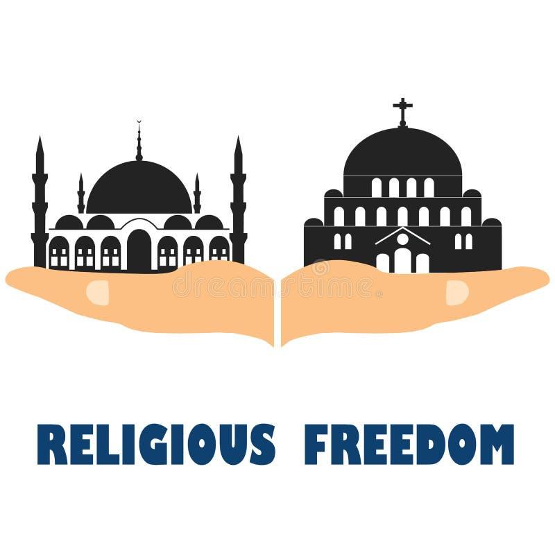 宗教自由 平的传染媒介股票例证 库存例证