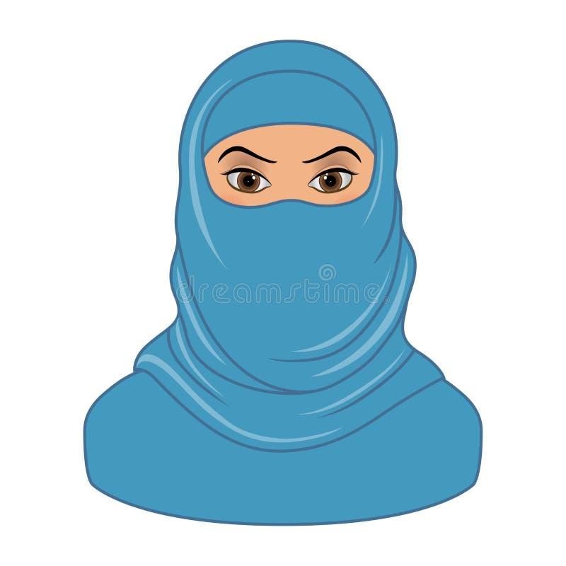 宗教阿拉伯回教妇女被隔绝 向量例证