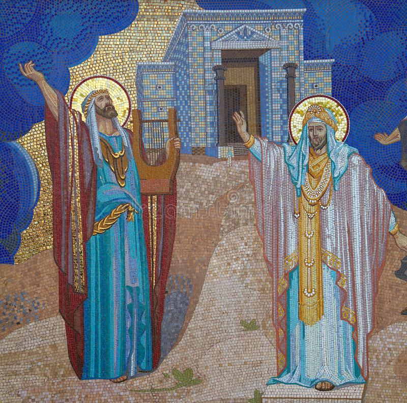 宗教 马赛克 东正教在Kirowograd乌克兰 免版税库存照片
