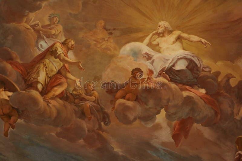 宗教绘画 皇族释放例证