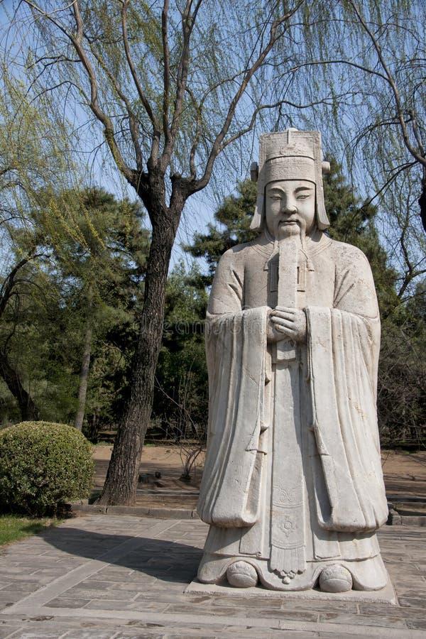 官僚主义者ming的雕象坟茔 库存图片