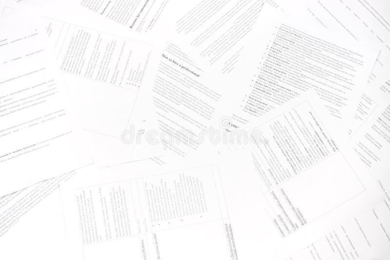 官僚混乱文件 免版税库存照片
