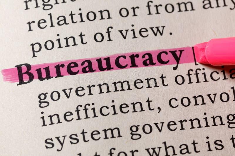 官僚的定义 免版税库存照片