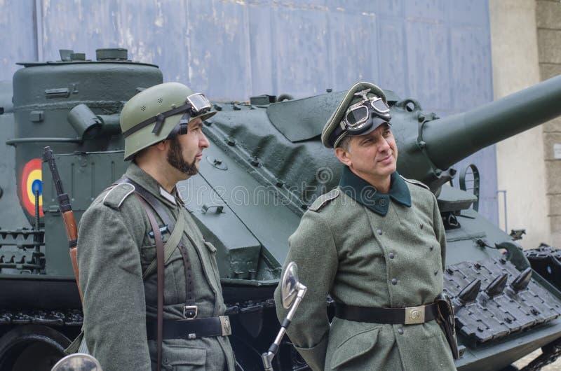 官员和战士纳粹制服的 库存图片