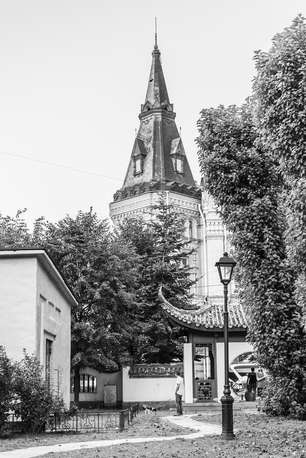 官员房子的塔在圣彼德堡 库存照片