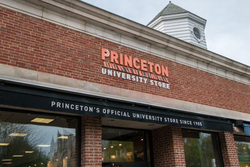 官员普林斯顿大学商店的正门 库存图片