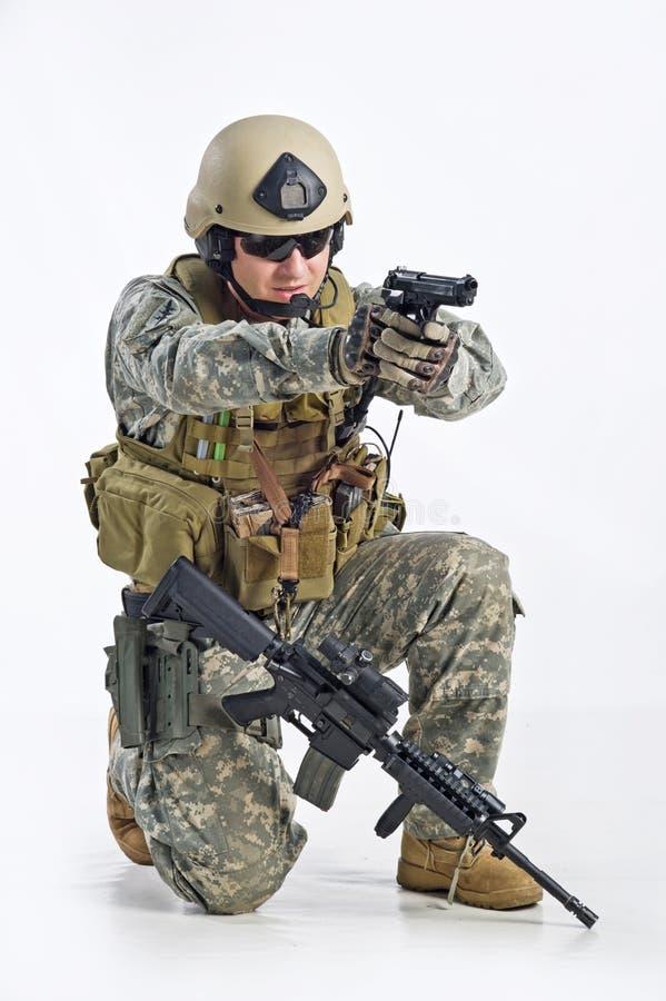 官员特警队 库存图片