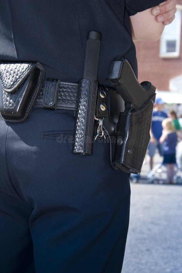 官员警察保护 免版税库存照片