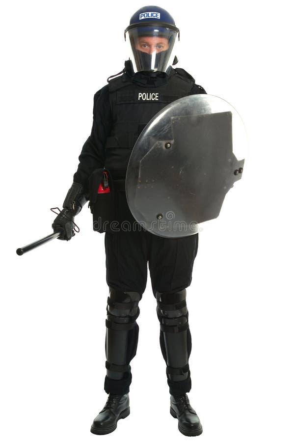官员警察暴乱 免版税库存照片