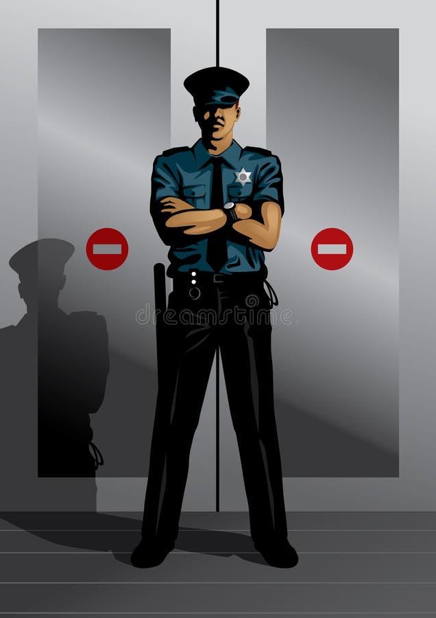官员警察 向量例证