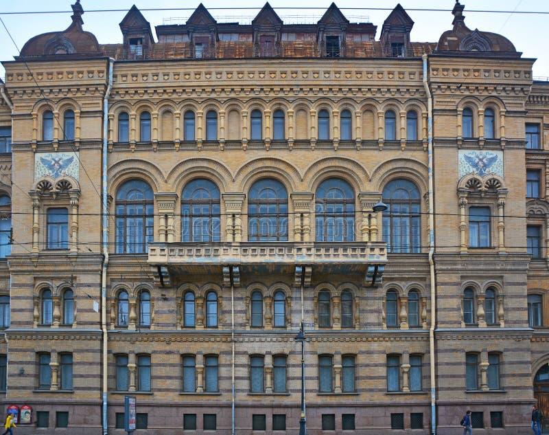 官员Lenigradsky军区的`俱乐部后面门面在圣彼得堡,俄罗斯 免版税库存图片