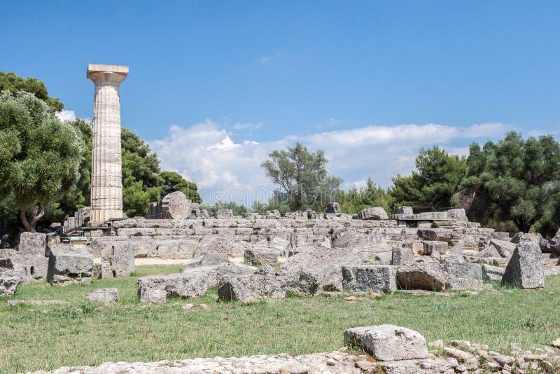 宙斯寺庙奥林匹亚希腊 库存照片