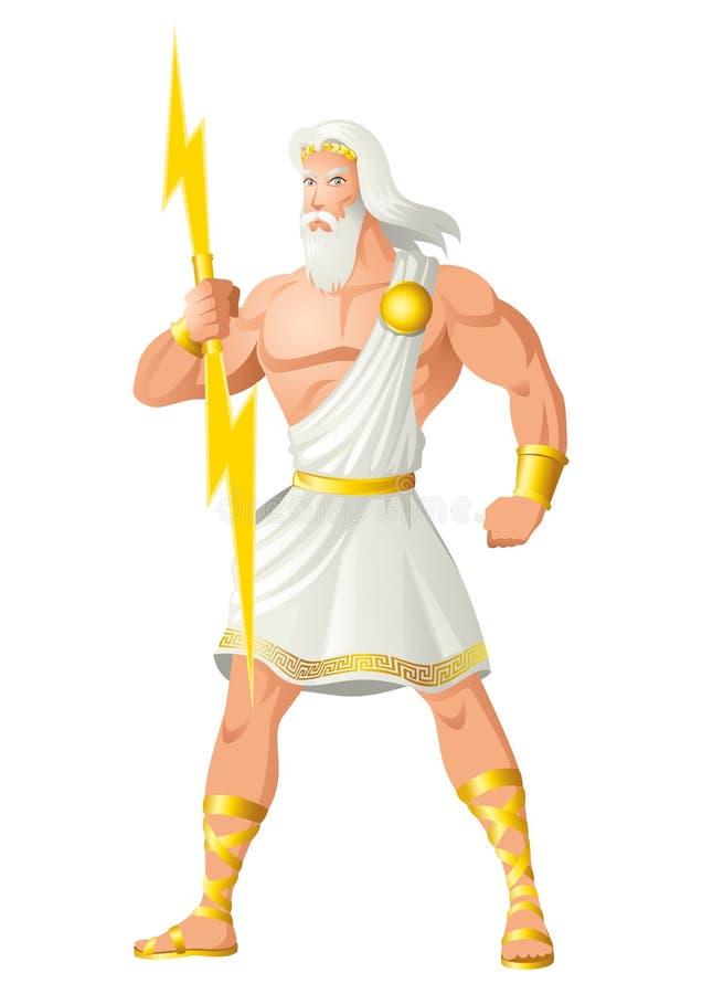 宙斯神和人的父亲 皇族释放例证