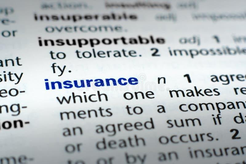 定义保险 库存图片