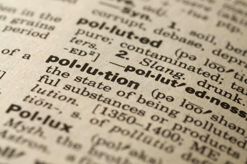 定义词典污染 图库摄影