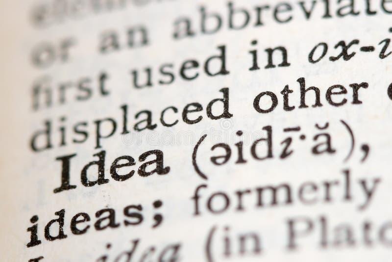 定义词典 免版税库存照片